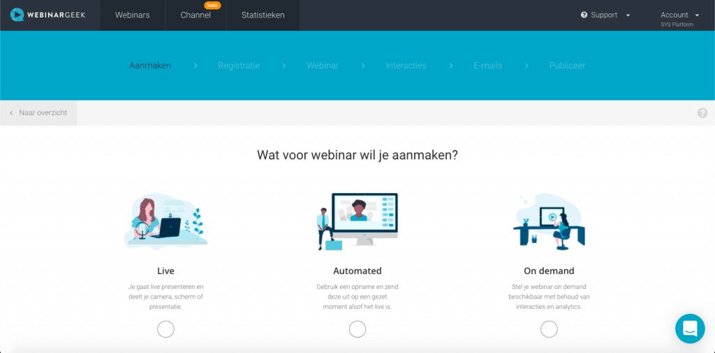 Keuze welk webinar WebinarGeek