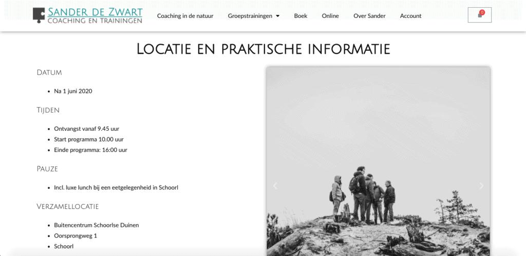 voorbeeld praktische informatie methodische bezoeker